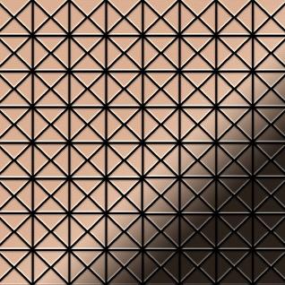 Mosaik Fliese massiv Metall Kupfer gewalzt in kupfer 1, 6mm stark ALLOY Deco-CM 0, 92 m2