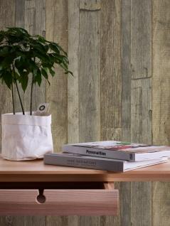 Holz Tapete Profhome 959313-GU Vliestapete glatt in Holzoptik matt grau weiß beige 5, 33 m2 - Vorschau 3