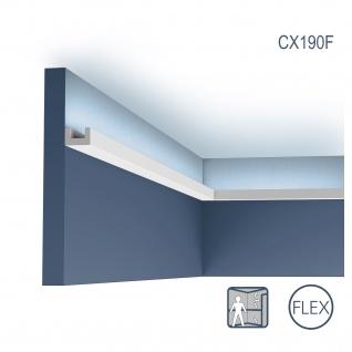 Eckleiste Orac Decor CX190F AXXENT U-PROFILE flexible Eckleiste Zierleiste Stuckleiste zeitloses klassisches Design weiß 2 m