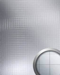 Wandpaneel Mosaik Classic spiegelnd selbstklebend silber WallFace 14279 M-Style Spiegel Wandverkleidung Design | 2, 60 qm