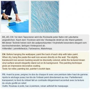 Struktur Tapete EDEM 375-60 Überstreichbare Vliestapete mit Struktur dekorative Stoff Textur geometrische Textil-Fasern 26, 50 qm - Vorschau 4
