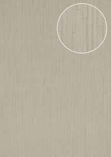 Präge Tapete Atlas INS-5078-4 Strukturtapete geprägt mit Streifen und Metallic Effekt silber weiß-aluminium 7, 035 m2