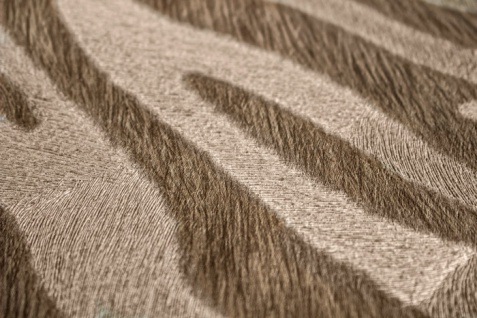 Tiermotiv Tapete Atlas SKI-5069-2 Vliestapete geprägt mit Zebramuster schimmernd beige grau-beige reh-braun blass-braun 7, 035 m2 - Vorschau 2