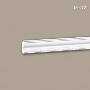 Eckleiste PROFHOME 150272 Zierleiste Stuckleiste Neo-Empire-Stil weiß 2 m
