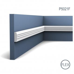 Friesleiste Stuck Orac Decor P5021F LUXXUS flexible Wandleiste Wandprofil Profil Dekor Leiste Zierleiste Wand 2 Meter