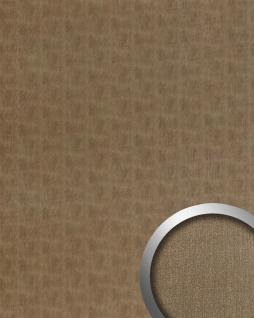 Wandpaneel Metalloptik WallFace 20200 SLIGHTLY USED Bronze AR Wandverkleidung glatt im Used Look gebürstet selbstklebend abriebfest bronze braun-grau 2, 6 m2