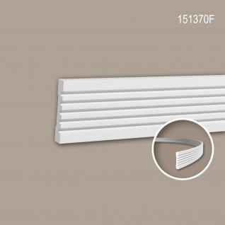 Wand- und Friesleiste PROFHOME 151370F Stuckleiste Flexible Leiste Zierleiste Modernes Design weiß 2 m