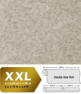 Struktur Tapete EDEM 9086-27 heißgeprägte Vliestapete geprägt unifarben schimmernd silber grau 10, 65 m2