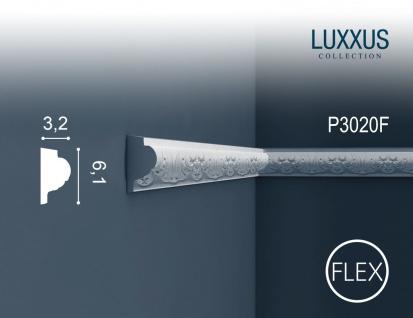Stuck Wandleiste Orac Decor P3020F LUXXUS flexible Zierleiste Friesleiste Stuck Dekor Profil Zierleiste Wand | 2 Meter