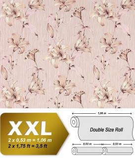 Vliestapete 3D Blumentapete Floral EDEM 978-33 Luxus design fühlbare Prägung altrosa pastell rosa beige 10, 65 qm