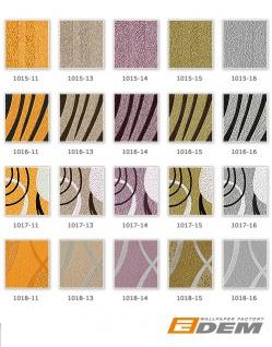 Streifen Tapete EDEM 1015-15 Designer Uni-Tapete dezent gestreiftes Struktur hochwaschbare Oberfläche oliv-grün gold-grün - Vorschau 5