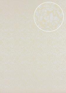 Barock Tapete Atlas PRI-498-7 Vliestapete glatt mit Ornamenten glänzend elfenbein vanille beige 5, 33 m2