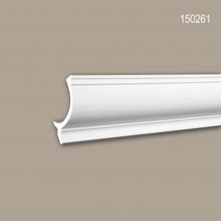 Eckleiste PROFHOME 150261 Zierleiste für indirekte Beleuchtung Stuckleiste Neo-Klassizismus-Stil weiß 2 m