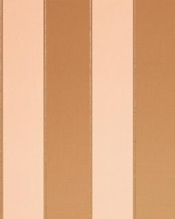 Streifen Tapete EDEM 771-32 Vinyl Tapete Luxus Hochwertig Barock hell-braun karamellbraun beige platin