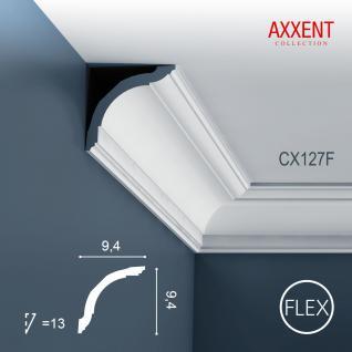Zierleiste Profilleiste Orac Decor CX127F AXXENT flexible Stuckleiste Stuck Profil Eckleiste Wand Leiste | 2 Meter