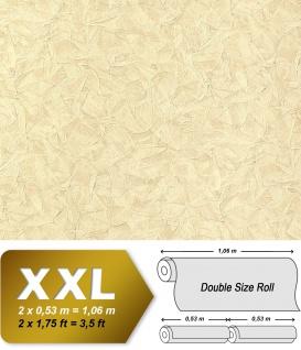 Struktur Tapete EDEM 9086-21 heißgeprägte Vliestapete geprägt unifarben schimmernd creme hell-elfenbein 10, 65 m2
