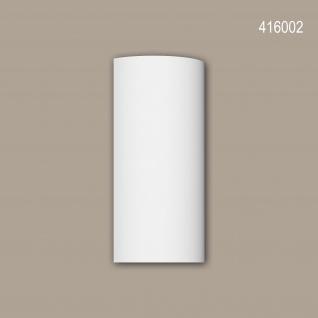 Halbsäulen Segment 416002 Profhome Fassadenstuck Säule Fassadenelement Toskanischer Stil weiß