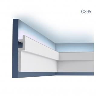 Eckleiste Orac Decor C395 MODERN STEPS Eckleiste für Indirekte Beleuchtung Zierleiste Stuckleiste modernes Design weiß 2 m