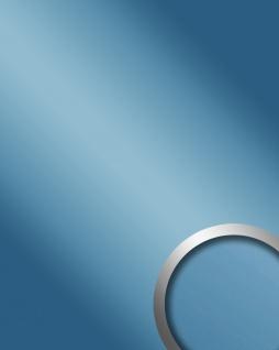 Glanz-Optik Wandverkleidung WallFace 10210 DECO ICEBLUE Wandpaneel Spiegel Design Platte selbstklebend blau | 2, 60 qm