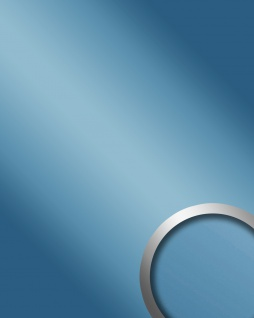 Glanz-Optik Wandverkleidung WallFace 10210 DECO ICEBLUE Wandpaneel Spiegel Design Platte selbstklebend blau 2, 60 qm