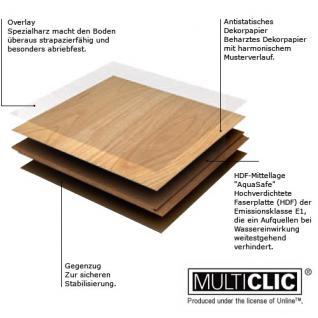 MEISTER 211 Klick Laminat Laminatboden Nussbaum Holz-Nachbildung 3-Stab Schiffsboden | 3, 06 qm / 12 Dielen - Vorschau 4