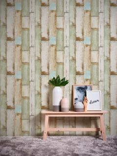 Holz Tapete Profhome 368942-GU Vliestapete glatt in Holzoptik matt beige braun creme-weiß 5, 33 m2 - Vorschau 3