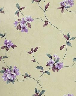 Asia Tapete EDEM 761-27 Orientalische Tapete in hochwertiger Prägequalität Creme-beige hell-lila blau-violett