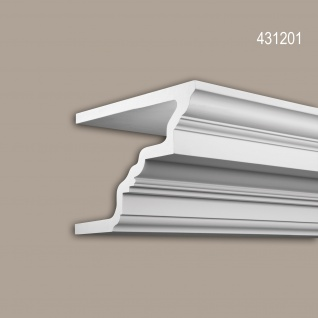 Eckleiste 431201 Profhome Fassadenprofil Zierleiste Stuckleiste Neo-Klassizismus-Stil weiß 2 m