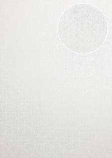 Grafik Tapete ATLAS XPL-590-1 Vliestapete strukturiert mit geometrischen Formen schimmernd weiß silber silber-grau 5, 33 m2