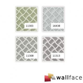 Wandpaneel ALU STEP Design WallFace 11308 Platte Kunststoff Metall Blech Optik Wand Boden Deko silber metallic | 2, 60 qm - Vorschau 2