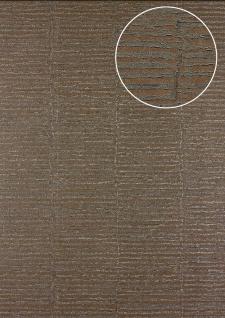 Streifen Tapete Atlas 24C-5054-3 Vliestapete strukturiert mit grafischem Muster und Metallic Effekt braun grau-beige bronze 7, 035 m2