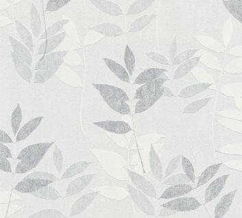 Natur Tapete Profhome 372614-GU Vliestapete leicht strukturiert mit floralen Ornamenten matt grau weiß 5, 33 m2