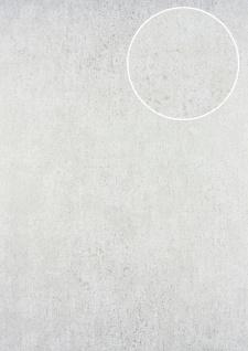 Ton-in-Ton Tapete ATLAS HER-5131-3 Vliestapete strukturiert im Shabby Chic Stil glänzend weiß perl-weiß 7, 035 m2