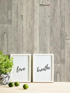Holz Tapete Profhome 959311-GU Vliestapete glatt in Holzoptik matt grau weiß beige 5, 33 m2 - Vorschau 4