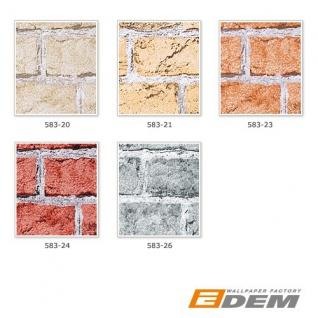 3D Tapete Stein Tapete EDEM 583-20 Rustikale Vinyl Tapete klassische Vintage Optik Mauer-Stein Klinker Ziege sand beige - Vorschau 4