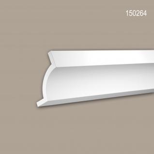 Eckleiste PROFHOME 150264 Zierleiste Stuckleiste Modernes Design weiß 2 m