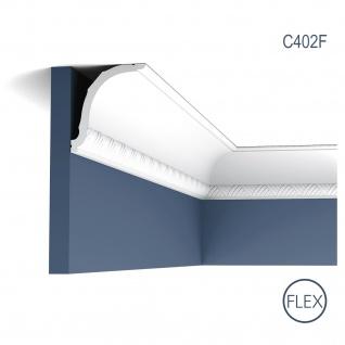 Stuck Zierleiste Orac Decor C402F LUXXUS flexible Eckleiste leiste Dekorleiste Deckenleiste Profil Gesims 2 Meter