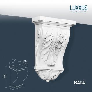 Stützkonsole Stuck Orac Decor B404 LUXXUS Konsole Wandboard Stuckgesims Akanthusblatt Wand Dekor Element weiß 31 cm hoch