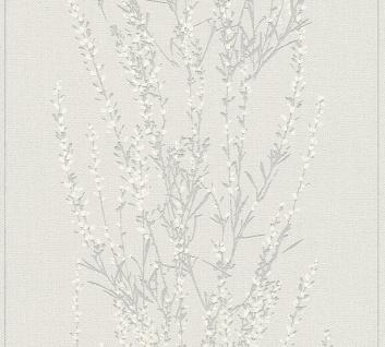 Blumen Tapete Profhome 372673-GU Vliestapete leicht strukturiert mit floralen Ornamenten matt grau beige silber 5, 33 m2