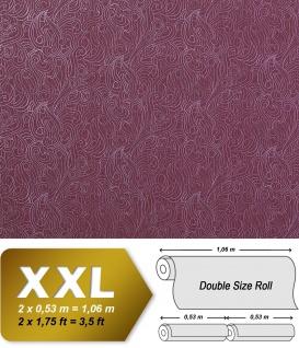 Barock Vliestapete XXL Tapete EDEM 698-94 Designer Imperial Versailles Paisley Metallic-Muster flieder lila 10, 65 qm