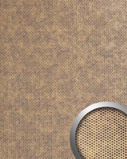 Wandplatte 3D Runddekor geprägt Paneel selbstklebend WallFace 17243 RACE Wandpaneel Design bronze silber | 2, 60 qm