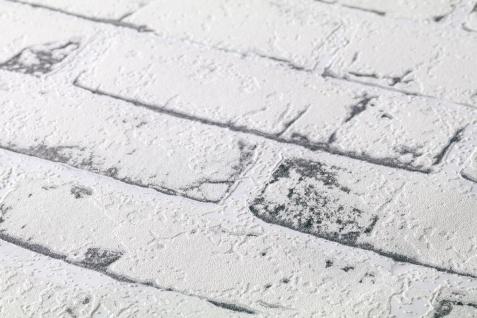 Stein Kacheln Tapete Profhome 907837-GU Vliestapete glatt in Steinoptik matt grau beige 5, 33 m2 - Vorschau 3