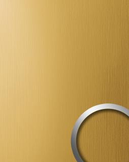 Wandverkleidung Design Platte WallFace 15299 DECO EyeCatch Metall Dekor selbstklebende Tapete gold gebürstet matt | 2, 60 qm