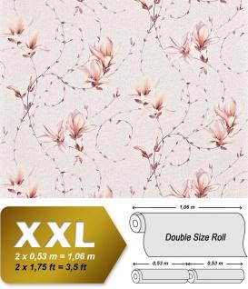 Landhaus Tapete Blumen XXL Vliestapete EDEM 902-13 Florales Design hochwertige Textiloptik rosa altrosa pfirsich creme 10, 65 m2