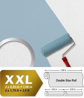 Streifen Tapete EDEM 83016BR60 Vliestapete zum Überstreichen strukturiert unifarben matt weiß 26, 50 m2