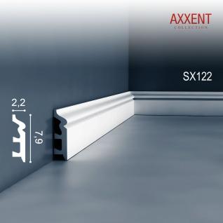 Sockelleiste Fußleiste von Orac Decor SX122 AXXENT Profilleiste Wand Boden Leiste mit Kabelschutz Funktion | 2 Meter