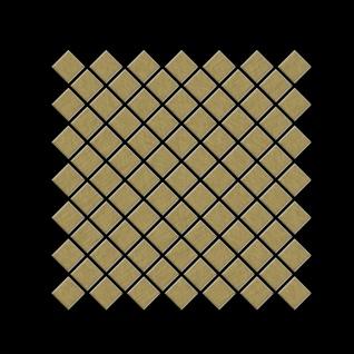 Mosaik Fliese massiv Metall Titan gebürstet in gold 1, 6mm stark ALLOY Diamond-Ti-GB 0, 91 m2 - Vorschau 3