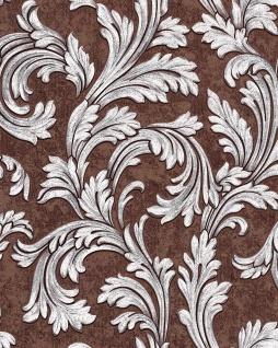 Barock Tapete EDEM 1032-16 Vinyltapete glatt mit Ornamenten und Metallic Effekt braun silber 5, 33 m2