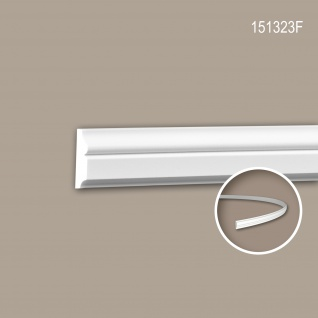 Wand- und Friesleiste PROFHOME 151323F Stuckleiste Flexible Leiste Zierleiste Neo-Klassizismus-Stil weiß 2 m