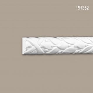 Wand- und Friesleiste PROFHOME 151352 Stuckleiste Zierleiste Wandleiste Rokoko Barock Stil weiß 2 m
